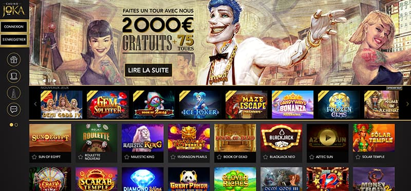 Capture d'écran Joka Casino interface