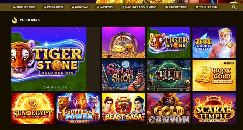 Capture d'écran kings chance roulette