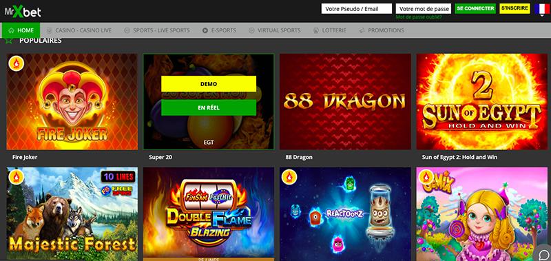 mrxbet interface  jeux casino online