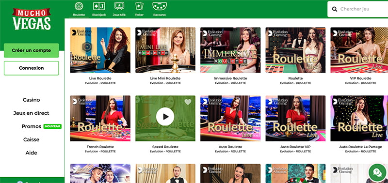 mucho vegas interface casino online